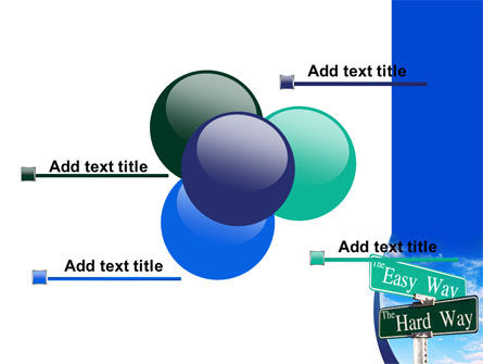 Easy or Hard Way PowerPoint Template Slide 10