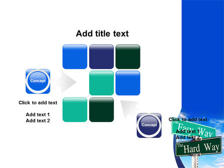 Easy or Hard Way PowerPoint Template Slide 16