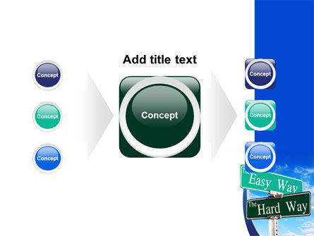 Easy or Hard Way PowerPoint Template Slide 17
