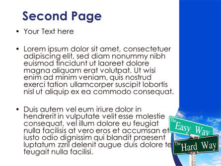 Easy or Hard Way PowerPoint Template Slide 2