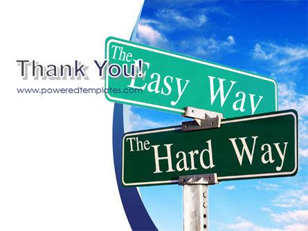 Easy or Hard Way PowerPoint Template Slide 20