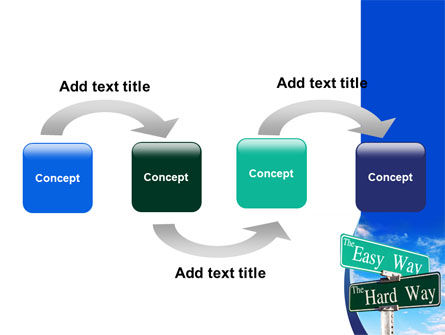 Easy or Hard Way PowerPoint Template Slide 4