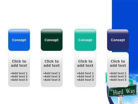 Easy or Hard Way PowerPoint Template Slide 5