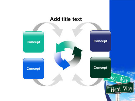 Easy or Hard Way PowerPoint Template Slide 6