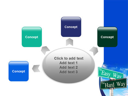 Easy or Hard Way PowerPoint Template Slide 7