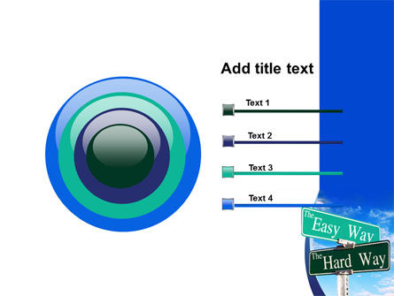 Easy or Hard Way PowerPoint Template Slide 9