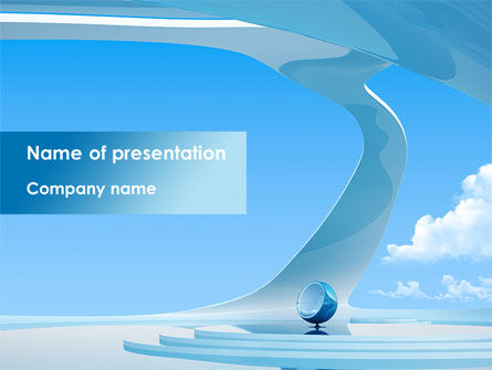 Futuristic Interior Design PowerPoint Template, 08421, Business — PoweredTemplate.com