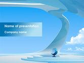 Business: Futuristic Interior Design PowerPoint Template #08421