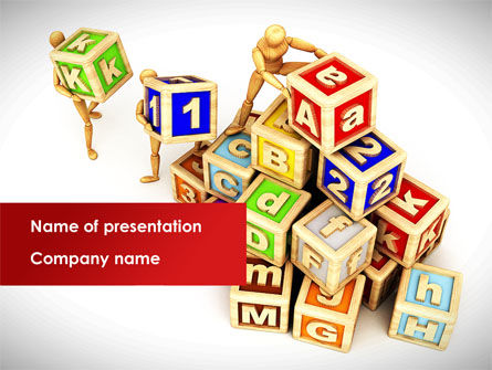 Toy Blocks PowerPoint Template, 08423, Business — PoweredTemplate.com