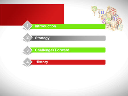 Toy Blocks PowerPoint Template, Slide 3, 08423, Business — PoweredTemplate.com