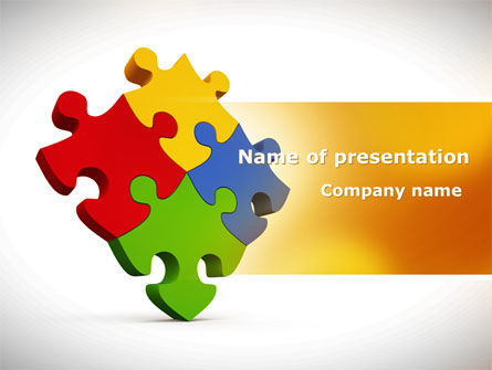 Colorful Puzzles PowerPoint Template, 08425, Consulting — PoweredTemplate.com