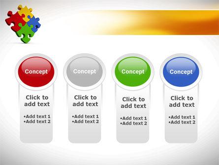 Colorful Puzzles PowerPoint Template Slide 5