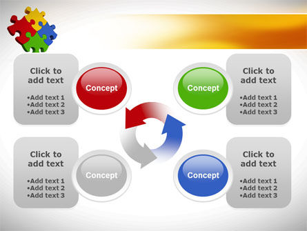 Colorful Puzzles PowerPoint Template Slide 9