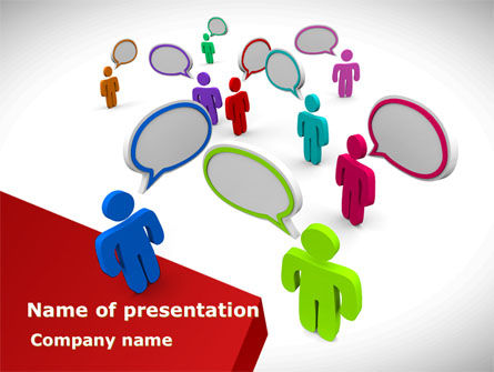 Telecommunication: Communication Area PowerPoint Template #08426