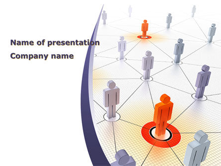 Telecommunication: Connections In The Network PowerPoint Template #08428