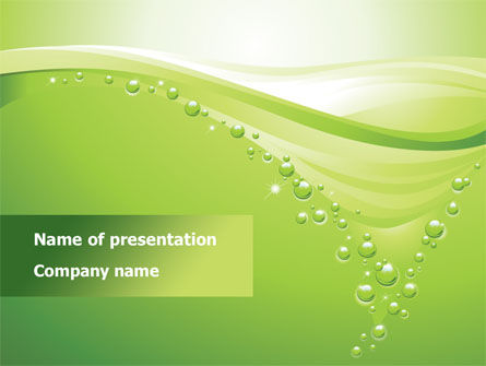 Abstract/Textures: Green Bubbles PowerPoint Template #08429