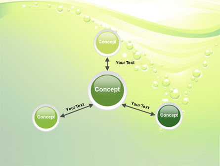 Green Bubbles PowerPoint Template Slide 14