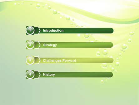 Green Bubbles PowerPoint Template Slide 3