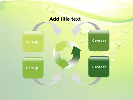 Green Bubbles PowerPoint Template Slide 6