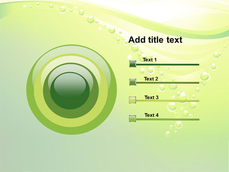 Green Bubbles PowerPoint Template Slide 9