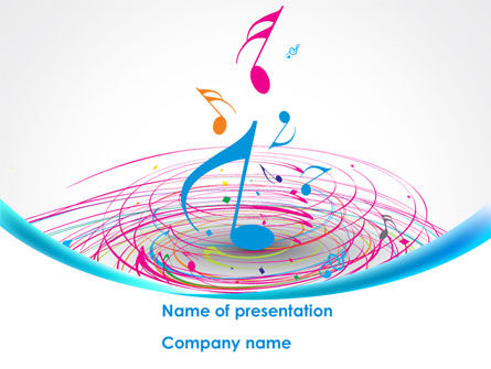 Music Swirl PowerPoint Template