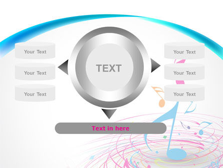 Music Swirl PowerPoint Template Slide 12