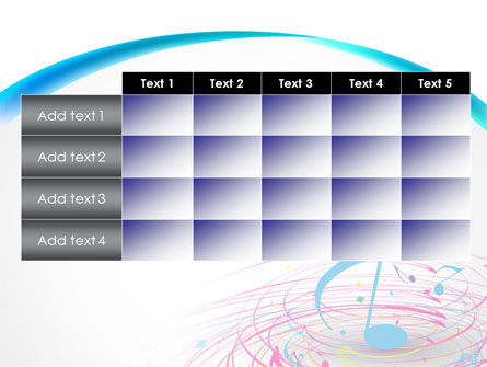 Music Swirl PowerPoint Template Slide 15