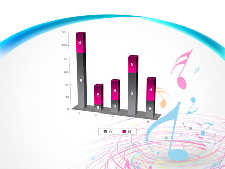 Music Swirl PowerPoint Template Slide 17