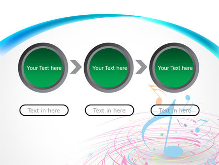 Music Swirl PowerPoint Template Slide 5