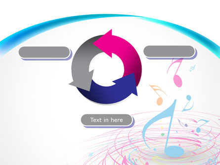 Music Swirl PowerPoint Template Slide 9
