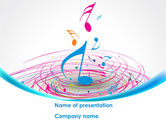 Art & Entertainment: Music Swirl PowerPoint Template #08432