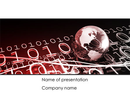 Global Credits PowerPoint Template, 08434, Technology and Science — PoweredTemplate.com