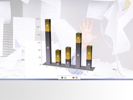 Drowning in Paper PowerPoint Template Slide 17