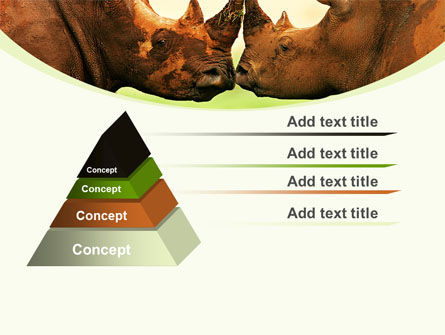 Two Rhinos Free PowerPoint Template Slide 12