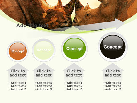 Two Rhinos Free PowerPoint Template Slide 13