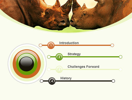 Two Rhinos Free PowerPoint Template, Slide 3, 08438, Animals and Pets — PoweredTemplate.com
