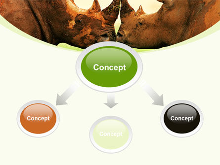 Two Rhinos Free PowerPoint Template, Slide 4, 08438, Animals and Pets — PoweredTemplate.com