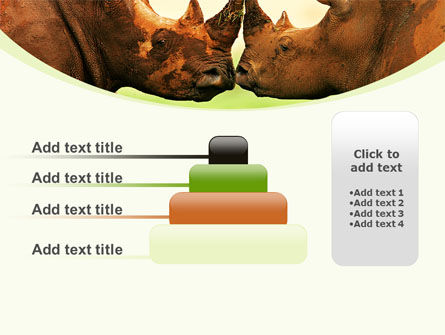 Two Rhinos Free PowerPoint Template Slide 8