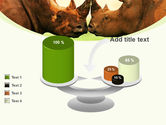 Two Rhinos Free PowerPoint Template#10