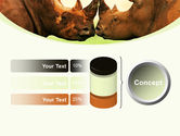 Two Rhinos Free PowerPoint Template#11