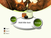 Two Rhinos Free PowerPoint Template#16