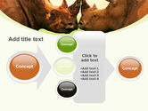 Two Rhinos Free PowerPoint Template#17