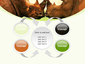 Two Rhinos Free PowerPoint Template#6
