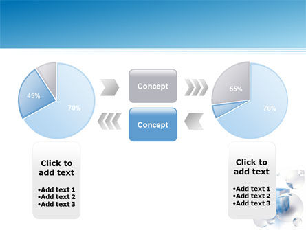 Blue Cube PowerPoint Template Slide 11