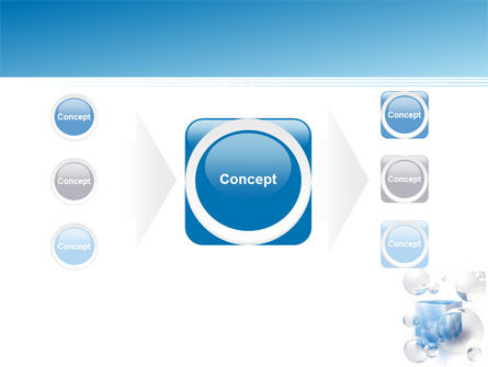 Blue Cube PowerPoint Template Slide 17
