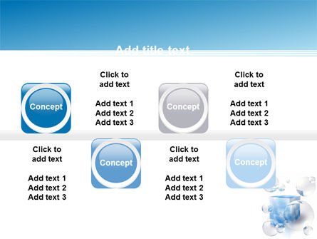 Blue Cube PowerPoint Template Slide 19