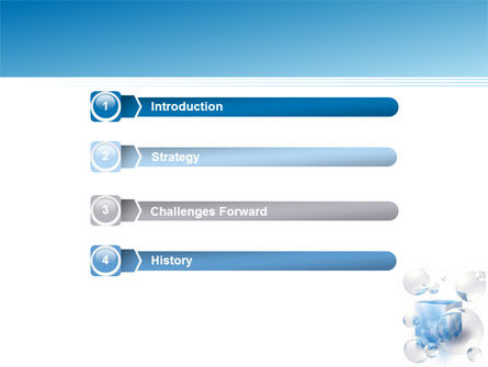Blue Cube PowerPoint Template Slide 3