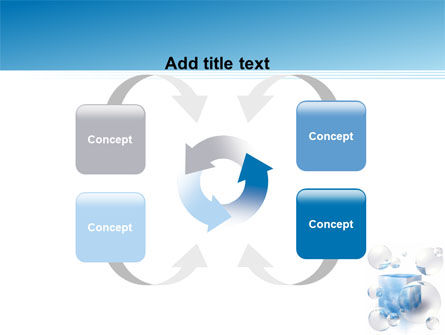 Blue Cube PowerPoint Template Slide 6