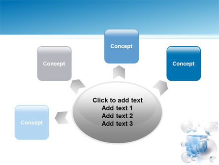 Blue Cube PowerPoint Template Slide 7