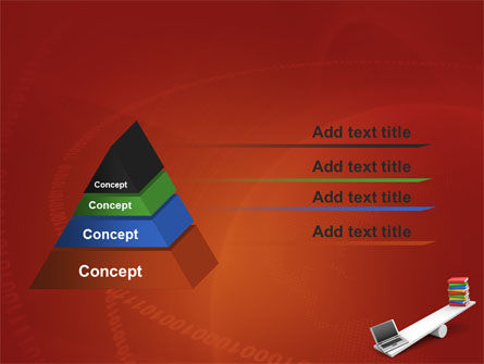 Computer or Books PowerPoint Template Slide 12